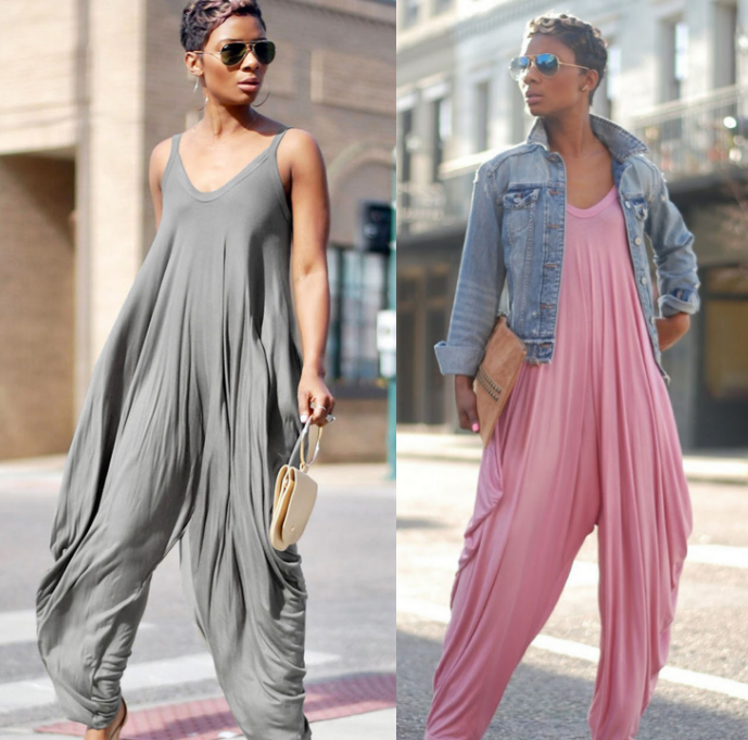 2019 Summer New Fashion Women Jumpsuits Oversized Baggy Casual Jumpsuit Strappy Streetwear Overalls Female Romper Harem Pants