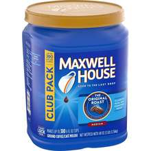 Maxwell House Original Roast Ground Coffee Bulk Container USA Instant Coffee Brand
