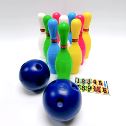 12 Piece Toys Bowling Set (Large) Comes with numbering stickers
