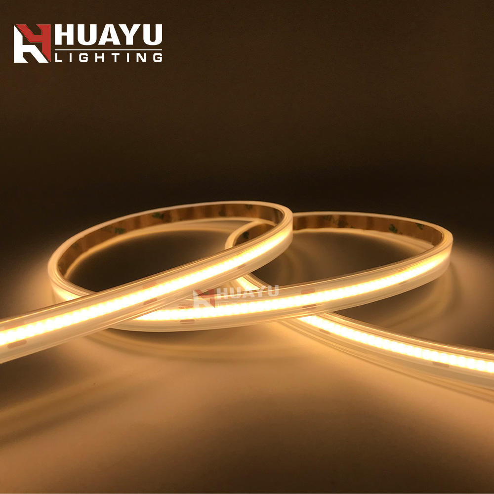 COB package 320 / 384 / 480 / 528 LEDs/meter CRI>90 Flexible LED Strip with IP66 silicone tube waterproof