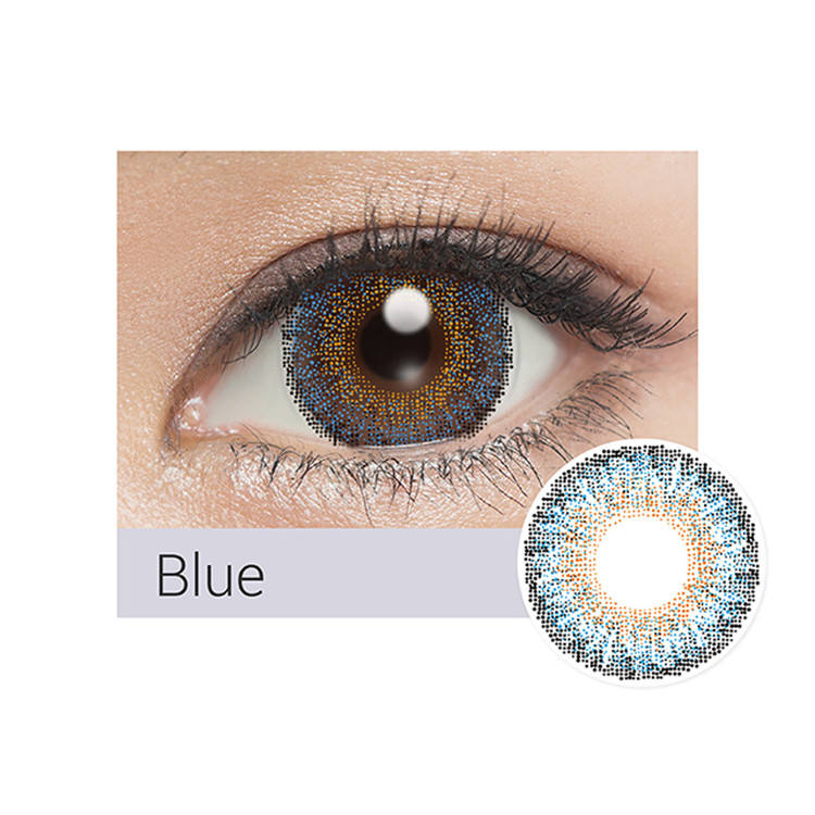 14.0mm blue color contact lens | 3Tone | color lenses | Hot sale | colored eye brown | cheap | OEM | natural look | manufacturer
