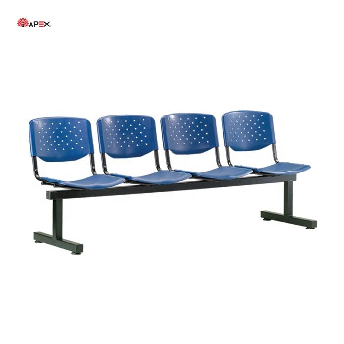 High Quality Aluminium Frame PU Office 4 Seater Link Chair for Waiting Room Airport Lounge