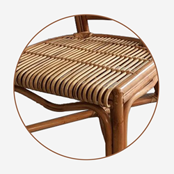 Vintage Natural Rattan Dinning Chair High Quality Waterproof Weather Resistant Relax Wood Outdoor Furniture From Vietnam