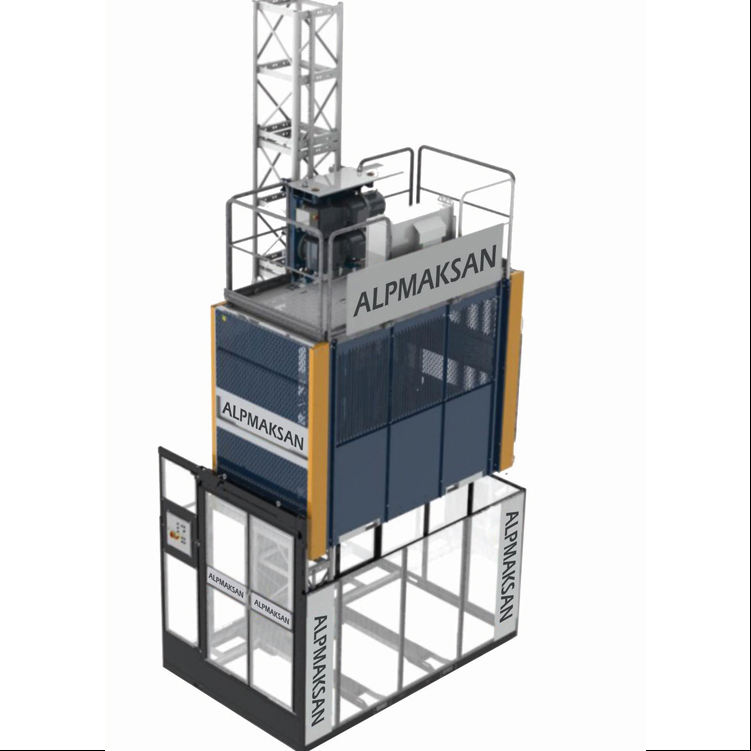 CE Approved Passenger Hoist With Single and Double Cage, Galvanized Mast and Supplier Price 3000kg Construction Elevator Lift