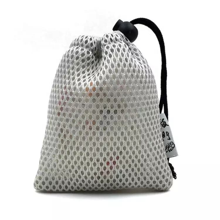 Black Small Nylon Mesh Drawstring Bag Mesh Fruit Packing Bag