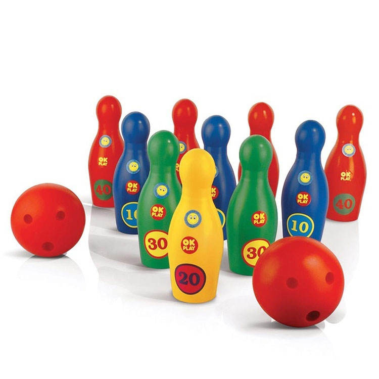 Light Weight Bright Color Material Super Bowling Alley Set