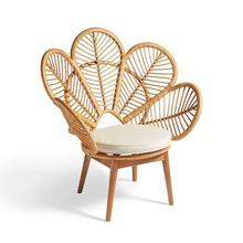 High demand outdoor rattan flower chair from Vietnam