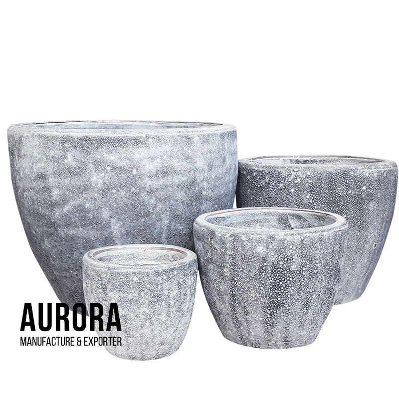 Large ceramic sponges outdoors