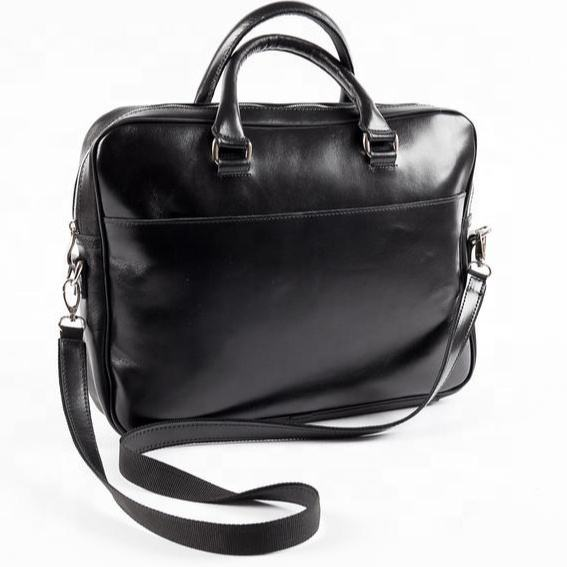 Leather Large Black Briefcase Laptop Bag Men Messenger Bag Gift For Him Business Bag SRS-0011