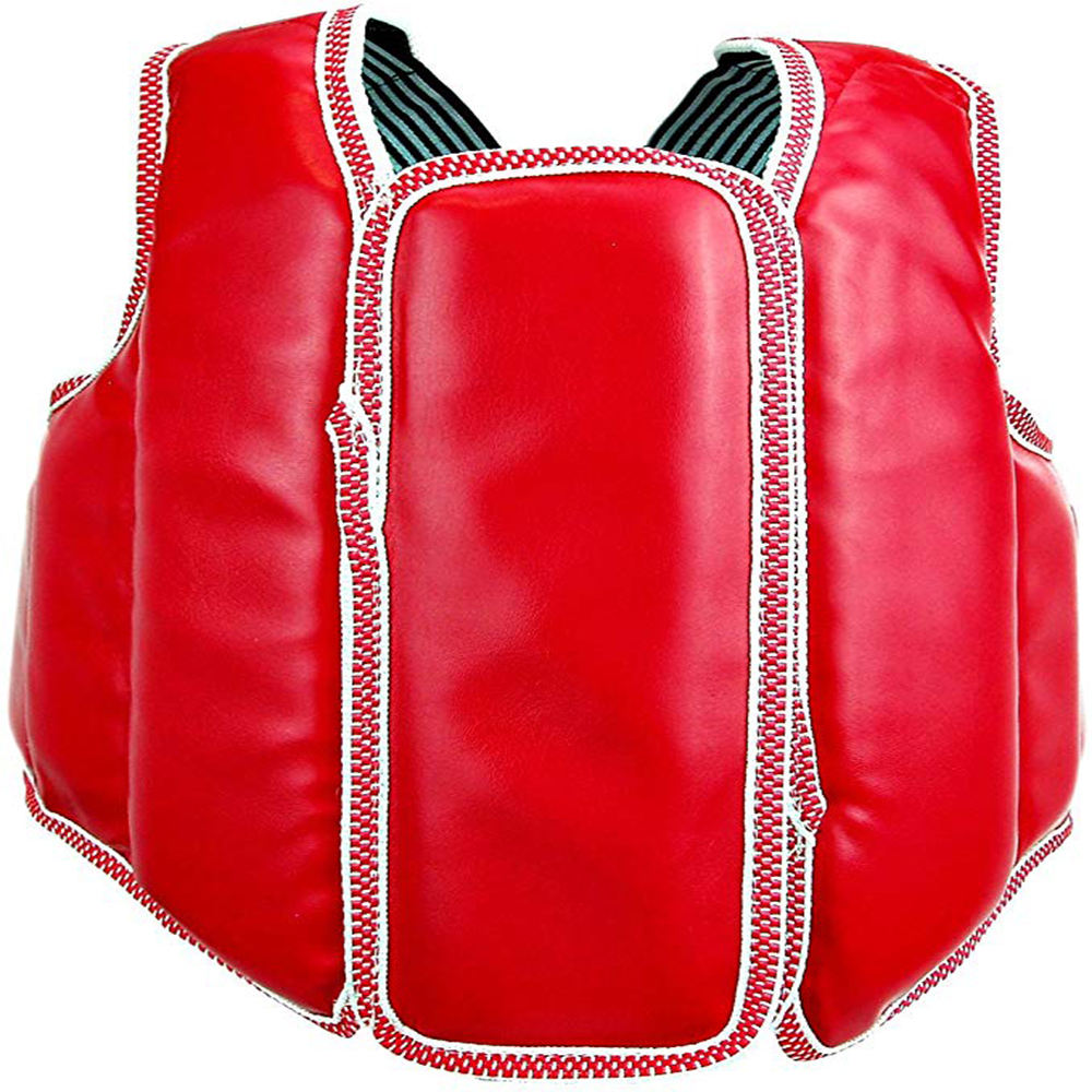 New Martial Arts Chest Guard Vest with Hook and Loop Closure for Taekwondo Karate
