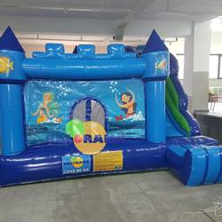 Ocean Theme Inflatable Combo Park Inflatable Bouncer Best Cheap Inflatable