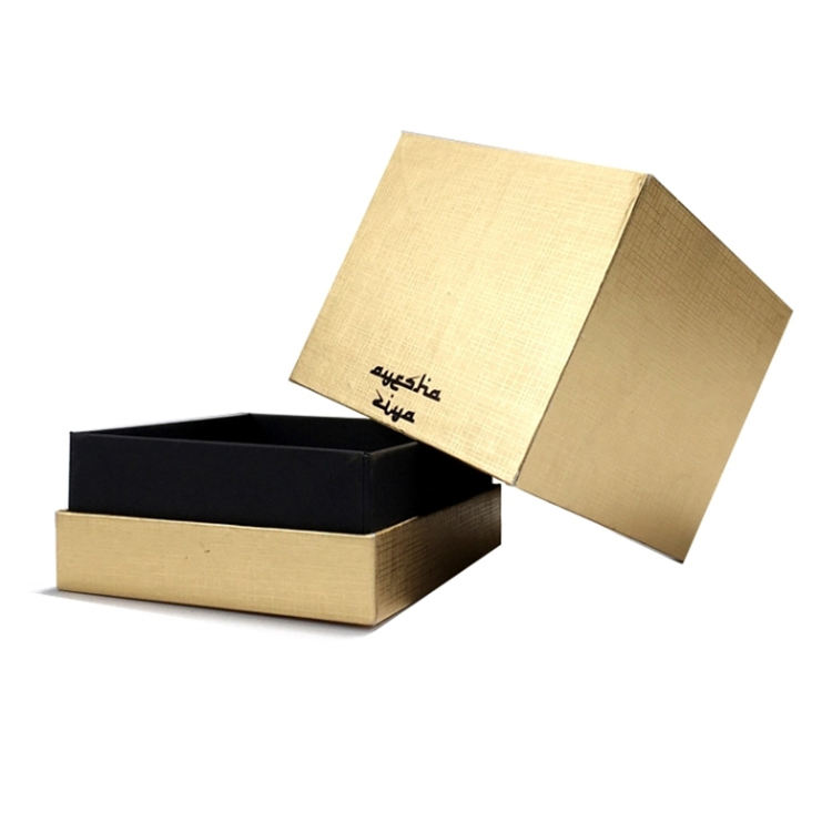 Luxe Logo Imprint Packaging Gold Gift Box