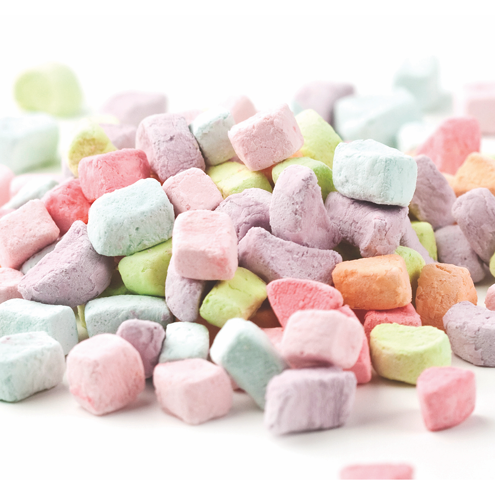 Assorted Dehydrated Marshmallow Bits 8lb