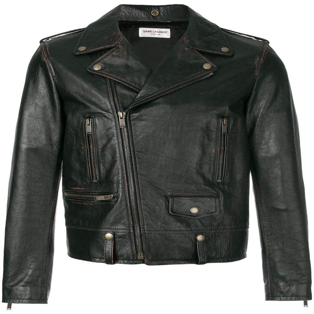 2020 New Fashion Men's Black Biker Leather Jacket With Top Quality Material-Reasonable Price