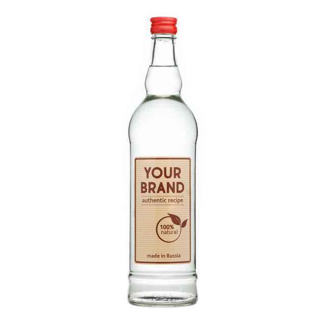 Private label economy vodka 0,7 L from Russia