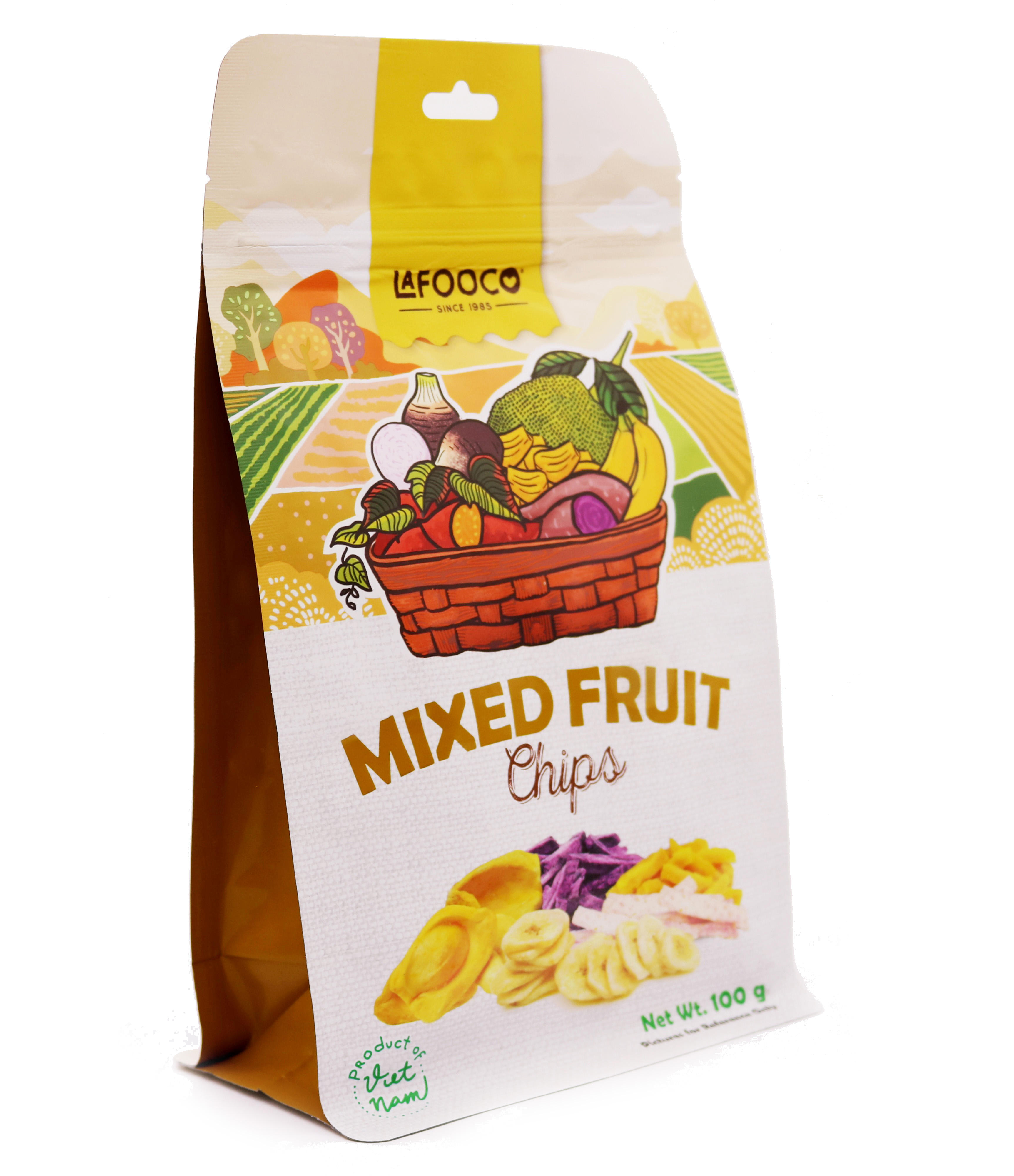 Mix Fruits Chips 100gr Origin Vietnam Standing pouch Natural Flavour Delicious Snack