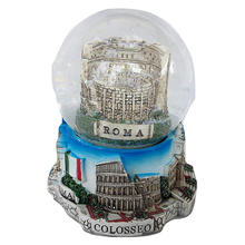New Design Resin Glass Snow Globe Roma Tourist Souvenirs
