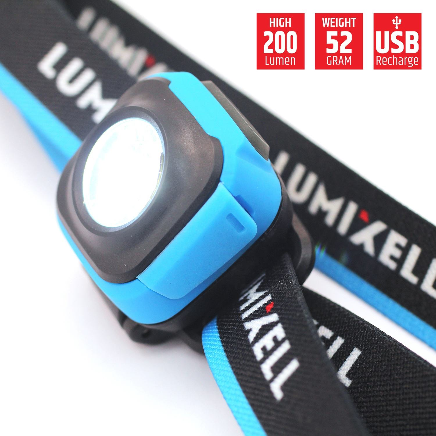 New Arrival small size super bright led outdoor headlamp rechargeable 200 lumen for camping