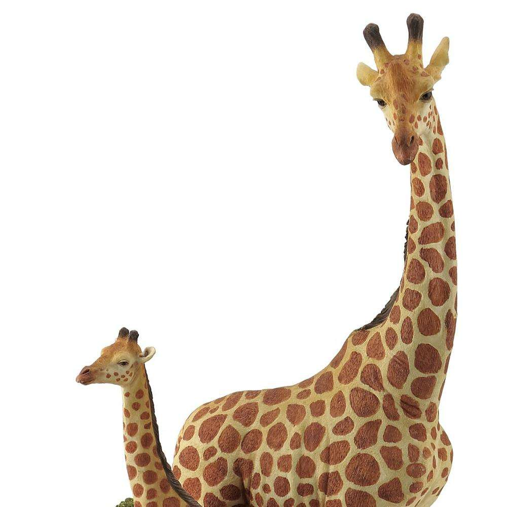 VERONESE DESIGN -WILDLIFE ANIMAL - GIRAFFE AND BABY GIRAFFE - COLOR PAINTED FINISHING - OEM AVAILABLE