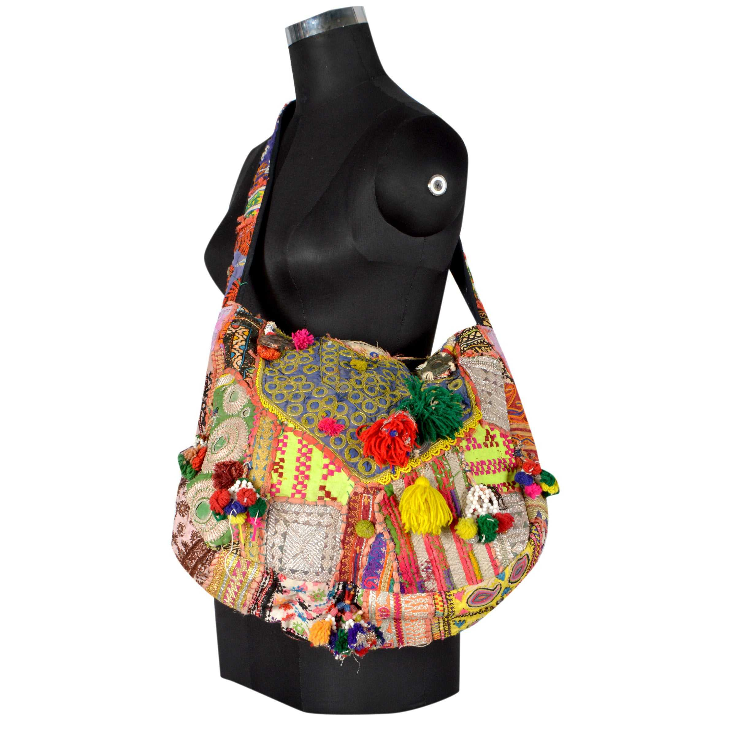 Vintage banjara Tribal Mirror Work Designer Embroidered Tote Banjara Gypsy Bags