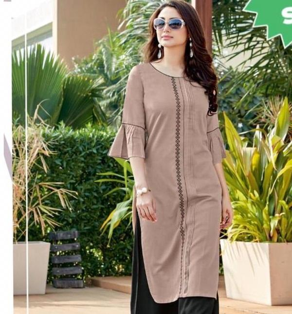 new style fancy wear kurti with plazzo suit for ladies with low price pakistani style salwar kameez