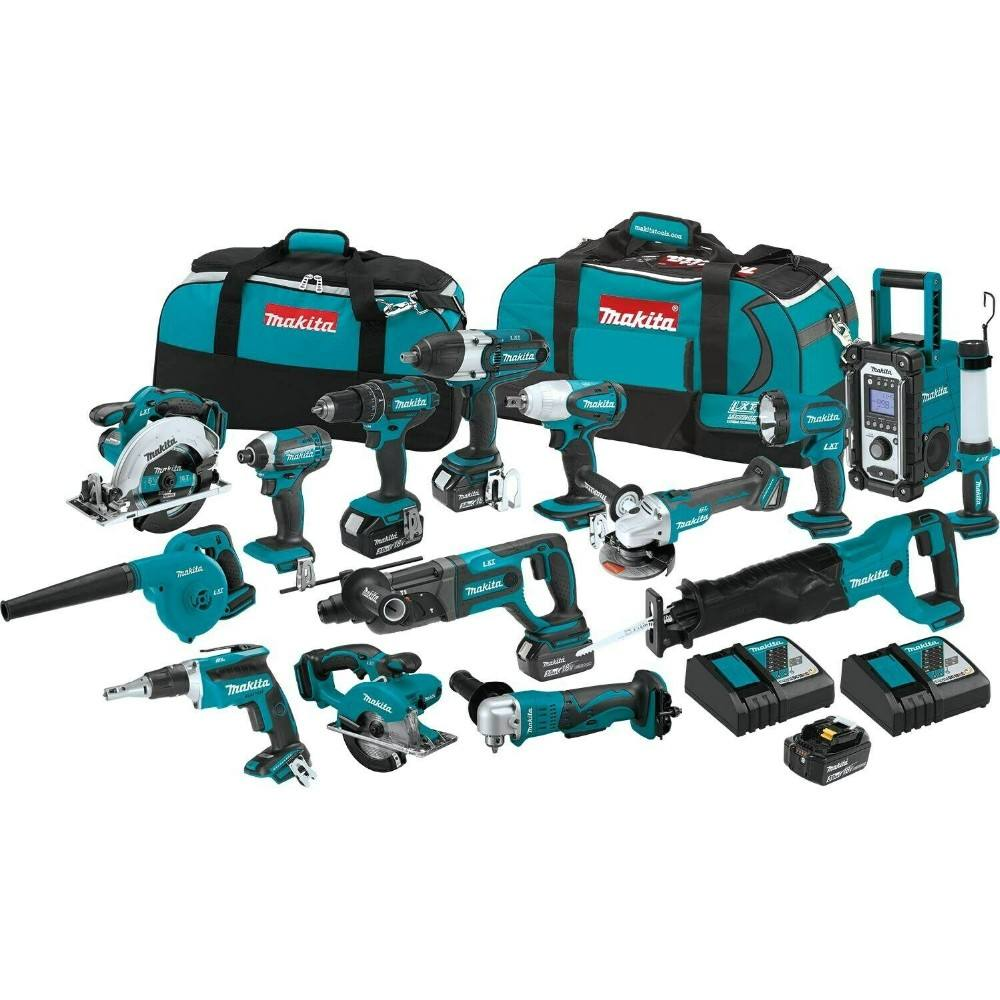 READY TO SHIP 2020 NEW Makitas LXT1500 18-Volt LXT Lithium-Ion Cordless15-Piece Combo Kit / power tool / cordless drill=