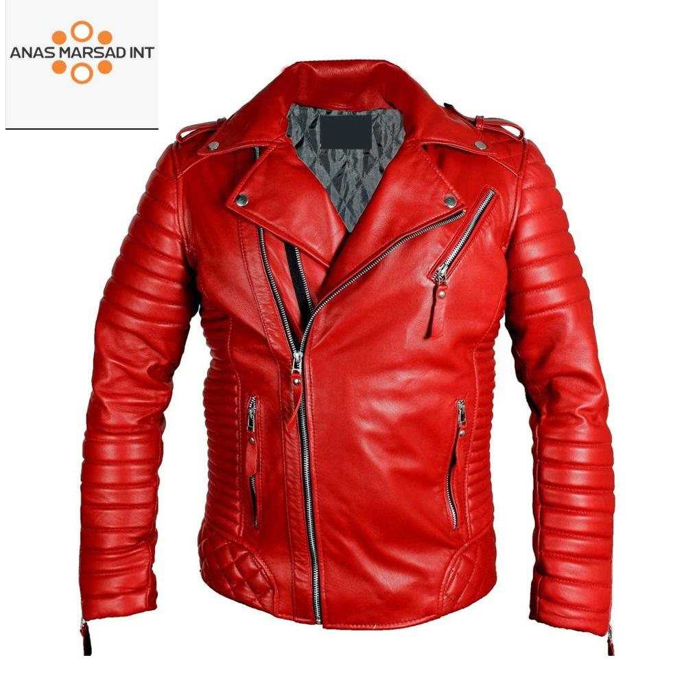 Customized Genuine Leather Blazer For Men - 2 Button - Sheep Skin - All Colors