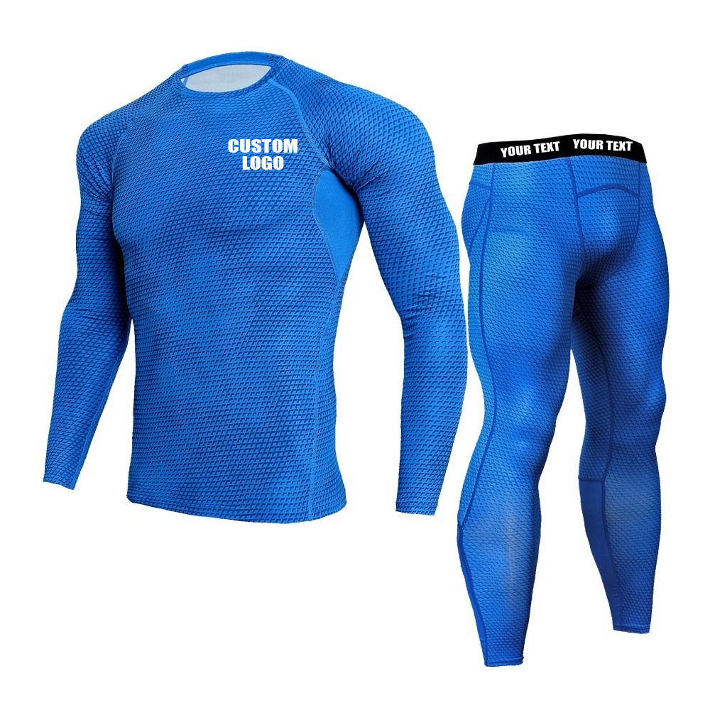 Brand New Sportswear Black Dark Blue Snake Printed Short Sleeve Yoga Compression Pants Custom Tights Training Suit Men
