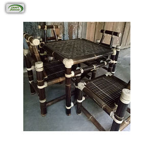 Low Cost Elegant Design Durable Bamboo Wooden Dining Table Set