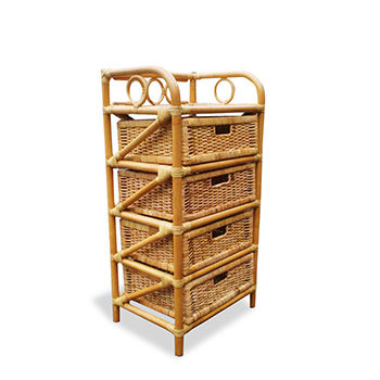Best Selling Rack Rattan Natural With 4 Drawers