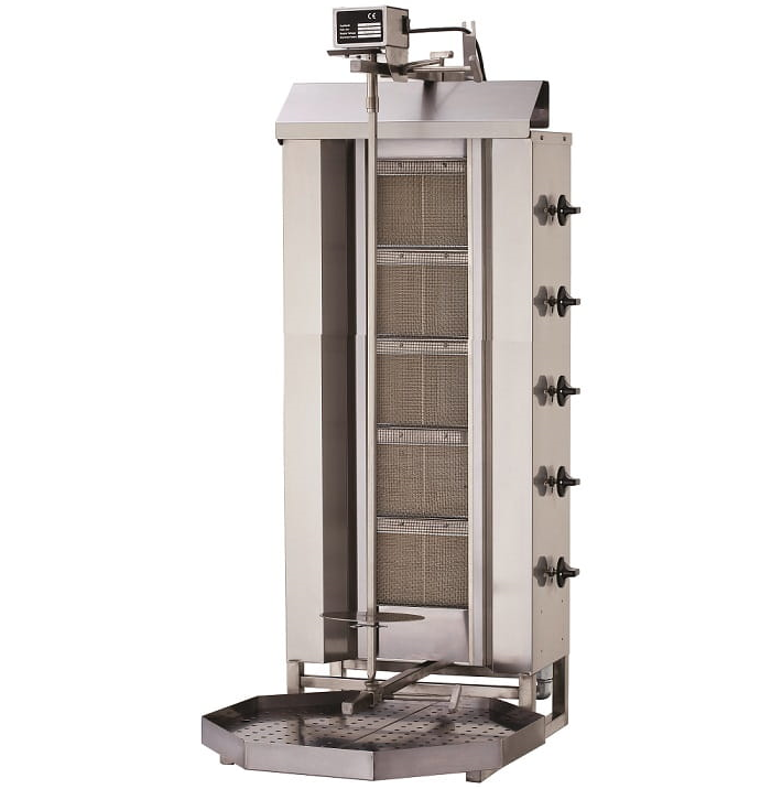 Professional Commercial <span class=keywords><strong>Gas</strong></span> Kebab <span class=keywords><strong>Gyros</strong></span> <span class=keywords><strong>Grill</strong></span> 5 Burners 16.25 kW 80 kg Turkish für Kitchen / Restaurant / Hotel