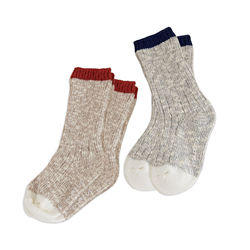 DE MARVI Knit Casual Boy's Girl's 2 pairs Socks set Baby Kids Wear Clothing OEM Wholesale MADE IN KOREA