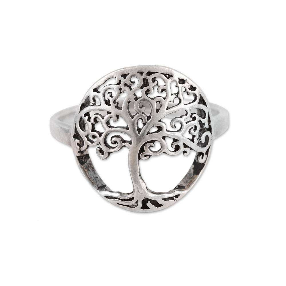 Gleaming plain silver tree trunk ring 925 sterling silver jewelry bulk wholesale prices silver ring jewelry suppliers exporter