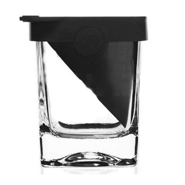 Best Selling Crystal Whiskey Glasses Silicone Slant Sipping Whiskey Wedge Glass Cup