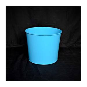 Sky Blue Custom Metalen Decoratieve Planter Op Hot Selling En Hoge Kwaliteit