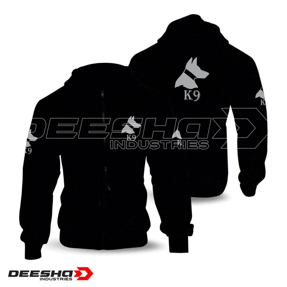 best quality security K9 Hoodies black / dog handler