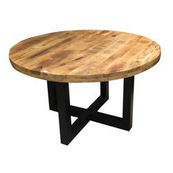 ROUND DINING TABLE MANGO NATURAL 130 and 150 CM