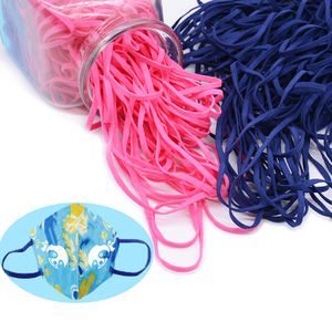 color face covering DIY accessory for sewing 5mm elastic braided cord