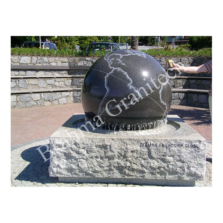 Giant Granite Made Big Globe Fountain for Lawn Decoration