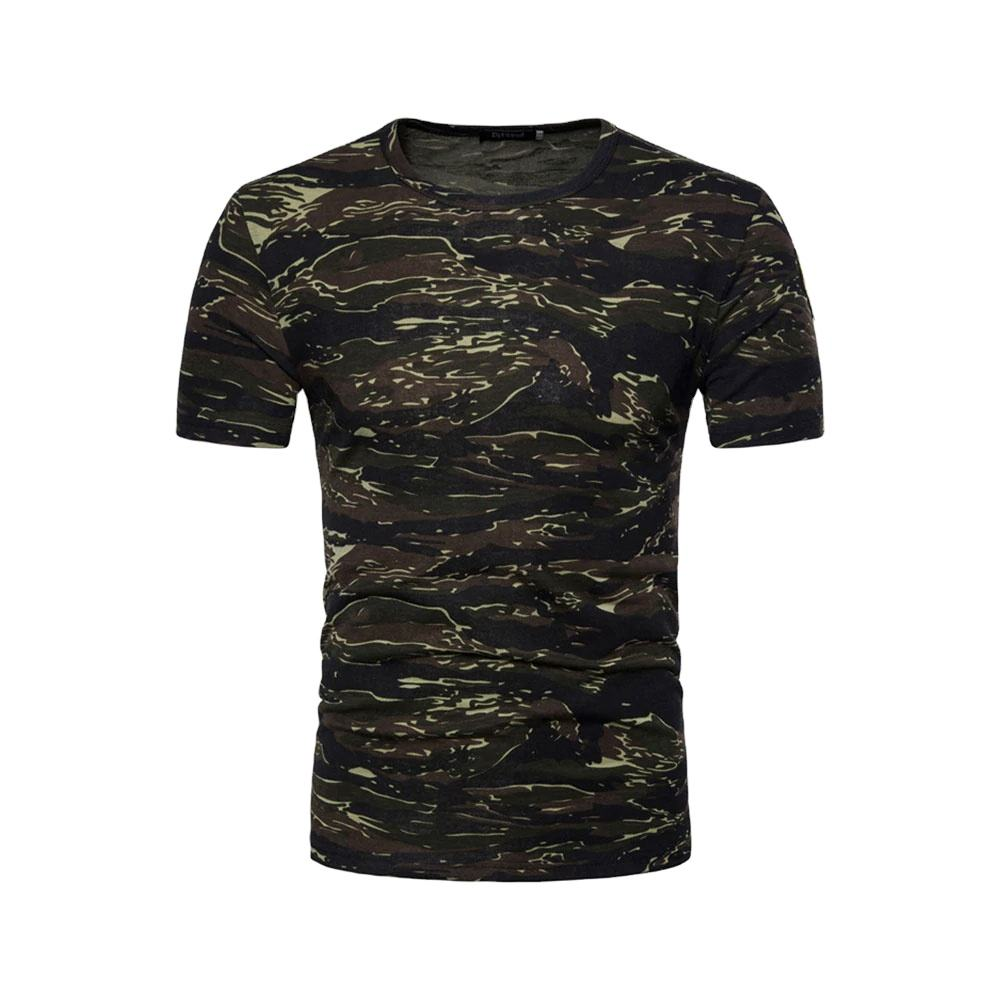 T-shirt Brand Men Camouflage T-shirt Casual Cotton Short Sleeve t-shirt Men Tee Top Camouflage Slim Fit Plus Size