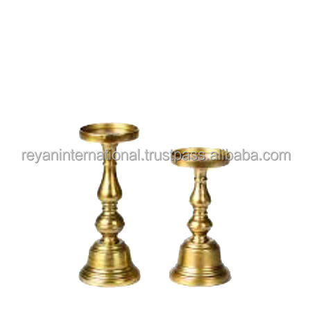 Wholesale High Quality Gold Candle Pillar Holder For Home Decoration