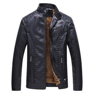 High Quality Fashion Leather Jacket Men Causal Slim Fit Jacked & Custom made Jacket For Men MK-RJ-3059
