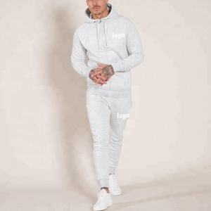Latest design tracksuit custom print embroidery logo organic cotton grey marl sweatsuit wholesale