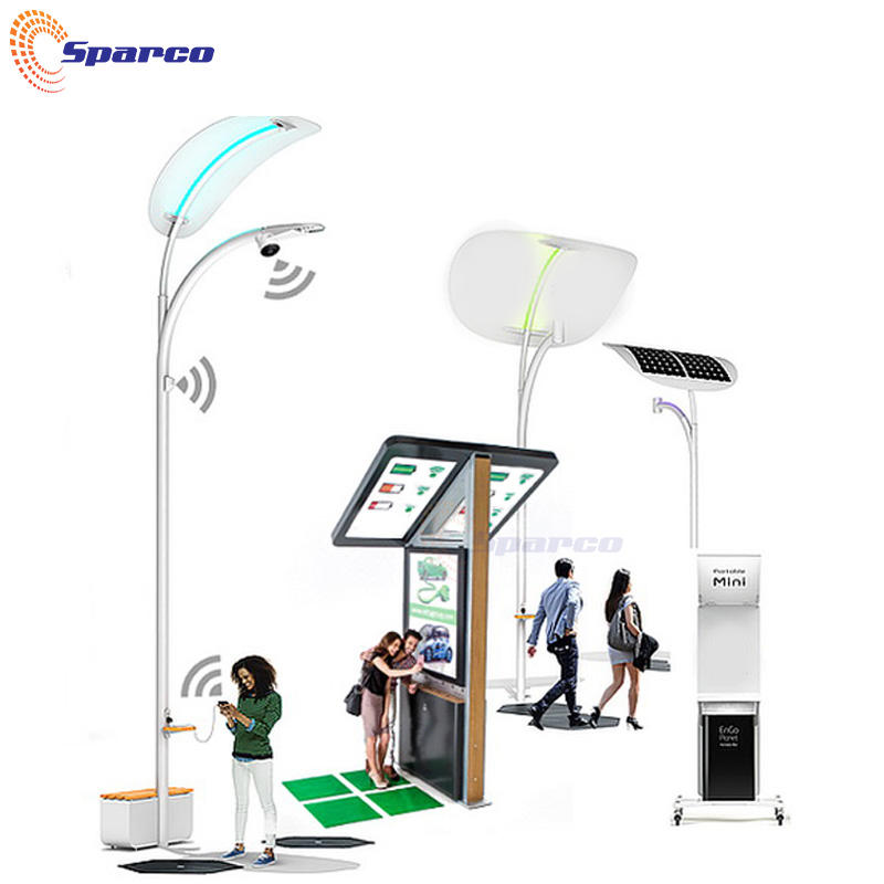 Sparco High-tech powder coating muti-functional smart solar street light pole