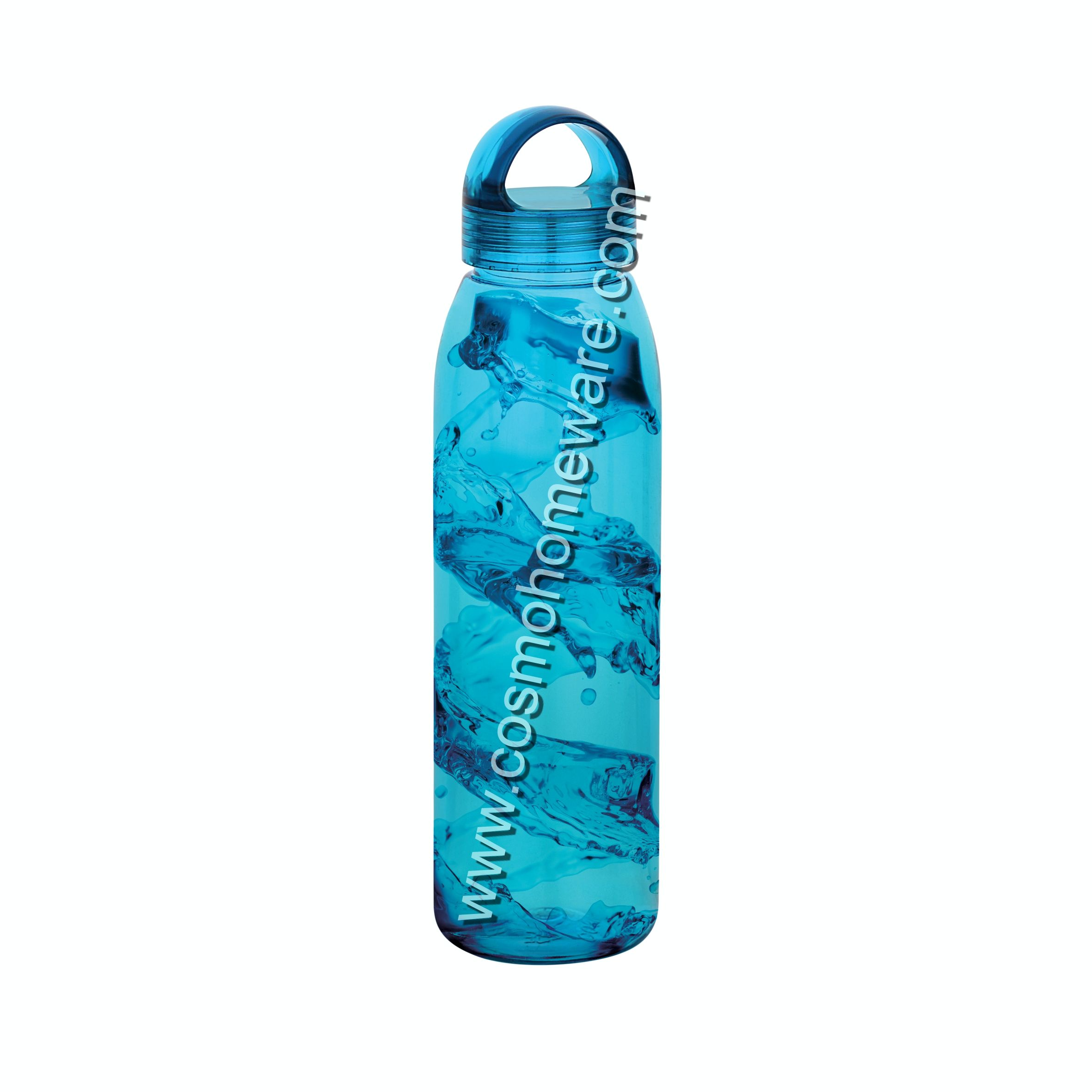 New Hot Selling Stylish 800ML 1000ML BPA Free PET Water Bottle with Unbreakable Hook cap For Gifting Wholesale
