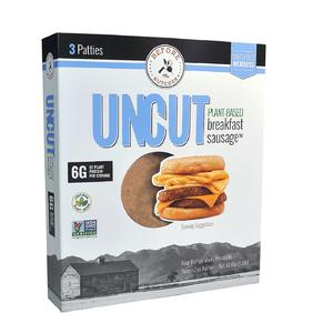 Healthy food UNCUT plant-based breakfast sausage patty