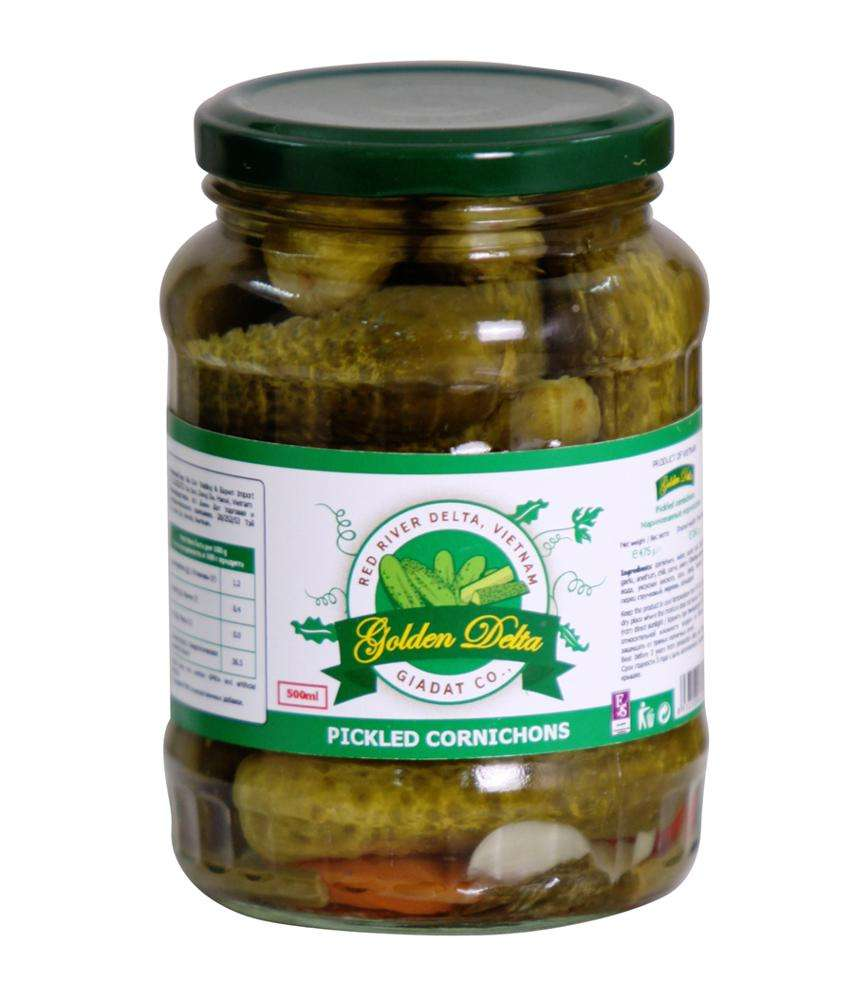 Sweet and sour pickled baby cucumber 3-6cm 540ml
