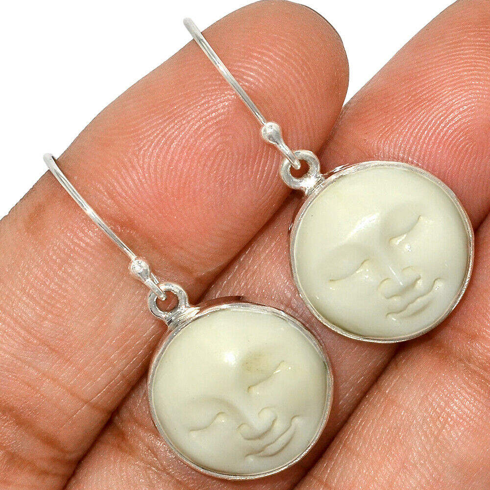 Latest Fashionable 925 Sterling Silver Balinese Goddess Bone Face Earring Silver Jewelry