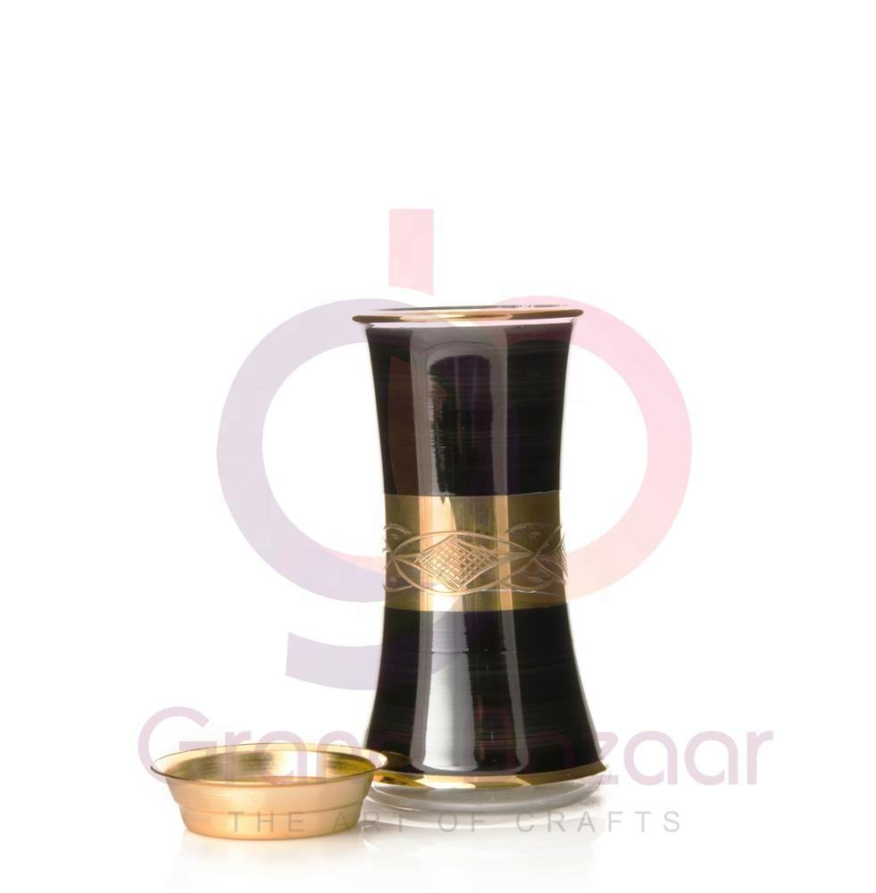 New Arabic Eco-friendly Incense Burner -Wholesale of Crystal Handmade Backflow Real Gold Daily Use Incense Burner