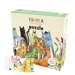 TWIPEA PUZZLE BLOCK (cat, fish, bird )